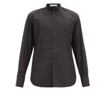 Wingtip-collar Cotton-poplin Shirt