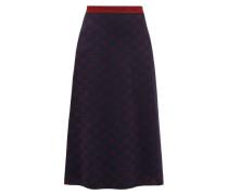 Gg-jacquard Wool-blend Skirt