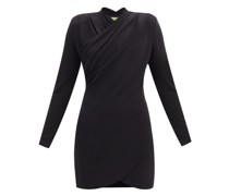 Tyver Wrap-front Crepe-jersey Mini Dress