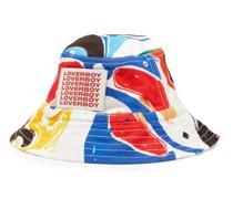 Abstract-print Twill Bucket Hat