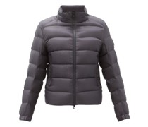 Logo-patch Hooded Quilted Down Jacket