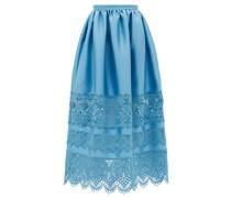 Jennifer Guipure Lace-trimmed Midi Skirt