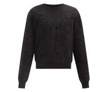 Shotgun Distressed Cotton-jersey Sweatshirt