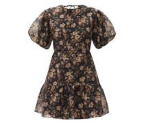 Amerie Cutout Cotton-blend Voile Mini Dress