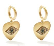 Eye Love Diamond, Sapphire & 18kt Gold Earrings