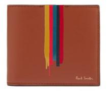 Artist-stripe Leather Bi-fold Wallet