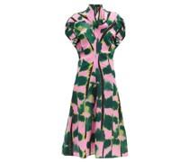 Tiger Tail Print Silk-crepe Dress
