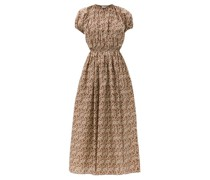 Gathered Cotton-poplin Maxi Dress