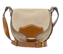 Botsy Suede And Leather Shoulder Bag