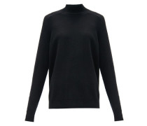 Longline-cuff Wool Sweater
