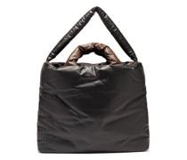 Bi-colour Padded Coated-canvas Tote Bag
