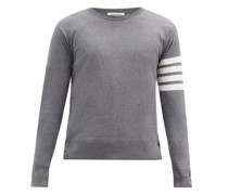 Four-bar Buttoned Wool Sweater