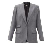 Bell Single-breasted Wool-flannel Jacket
