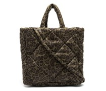 Assante Leopard-print Quilted Technical Tote Bag