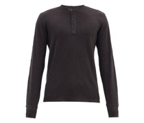 Classic Slubbed Cotton-jersey Henley T-shirt