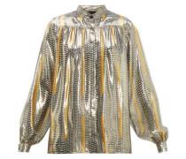 Geometric-print Silk-blend Blouse
