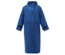 Hooded Taffeta Trench Coat