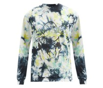 Dreamcatcher Tie-dye Cotton Long-sleeved T-shirt