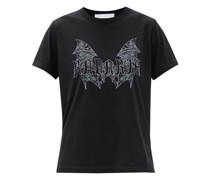 X Jess Rotter Gothic-print Jersey T-shirt