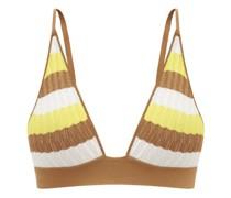 Robin Striped Pointelle-knit Triangle Bra