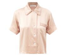 Shelby Short-sleeve Silk-charmeuse Pyjama Shirt