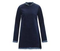 Janis Raw-edged Denim Mini Dress