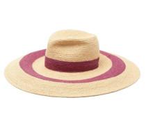 Vertigo Striped Raffia Hat