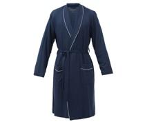 Basel Piped-trim Modal-blend Robe