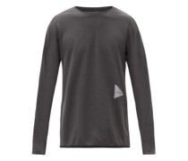 Logo-print Technical-jersey Long-sleeved T-shirt