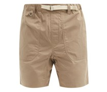 Service Belted Cotton-ripstop Shorts