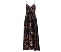 A Girl Like You Floral-print Silk Maxi Dress