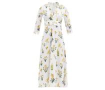 Laurelle Meadow-print Crepe Midi Dress