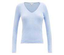 Maisie Ribbed Cotton-blend Pyjama Top