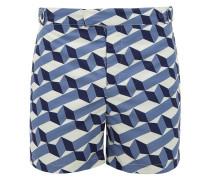 Cube-print Tailored-fit Swim Shorts