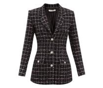 Check Cotton-blend Bouclé Jacket