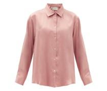 London Sandwashed-silk Pyjama Shirt