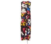 Floral-print Satin Maxi-dress