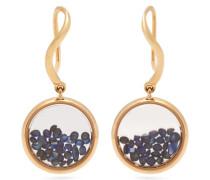 Chivor Sapphire & 18kt Gold Earrings