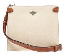 Stowaway Leather-trimmed Canvas Shoulder Bag