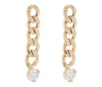 Diamond & 14kt Gold Drop Earrings