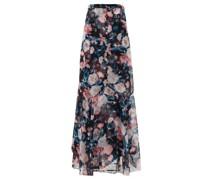 Glacinta Floral-print Silk Crepe De Chine Skirt