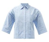 Nico Cotton-blend Gingham Shirt