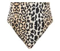 Hutton Leopard-print High-rise Bikini Briefs