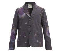 Milo Single-breasted Tie-dye Silk-blend Blazer