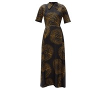 Batik-print Silk Tea Dress