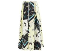 Elena Rosemont Willow-print Cotton Skirt