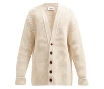 Milo V-neck Ribbed Cotton-blend Cardigan