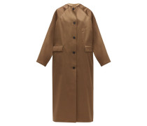Reversible Single-breasted Satin Coat