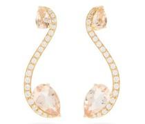 Sissi Diamond, Morganite & 18kt Gold Earrings