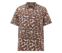 Adam Leopard-print Cotton Shirt